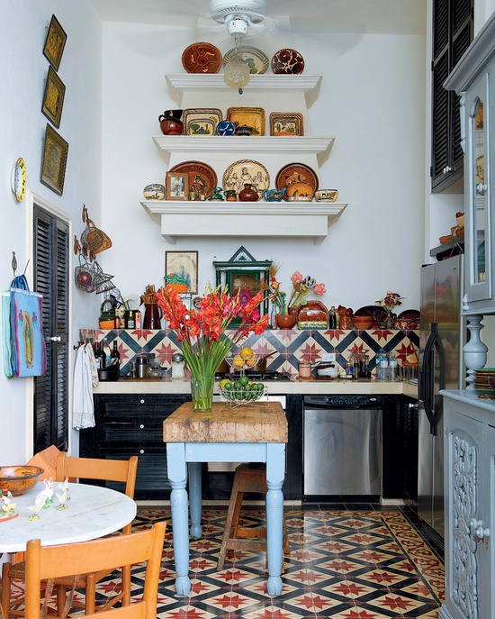 eclectic small kitchen image