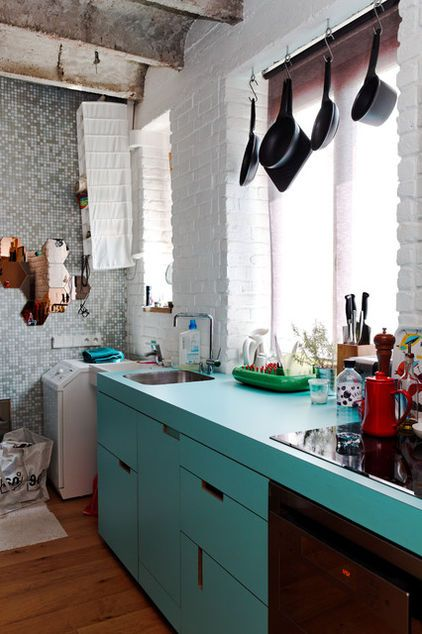 small eclectic kitchen
