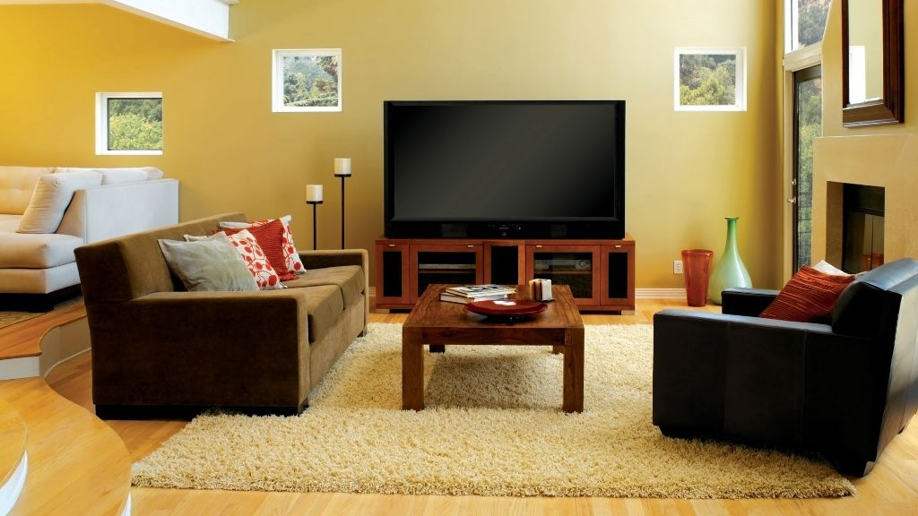 the-living-room-with-wooden flooring and rug