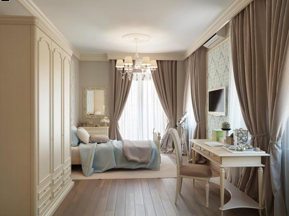 white traditional bedroom