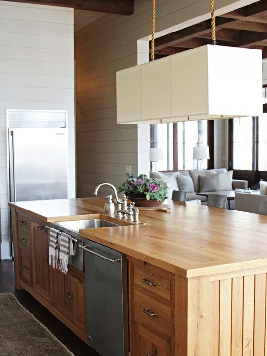 Cool Reclaimed Wood Kitchen Islands Ideas