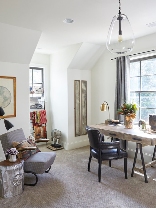 Eclectic Home Office Design Ideas Remodels