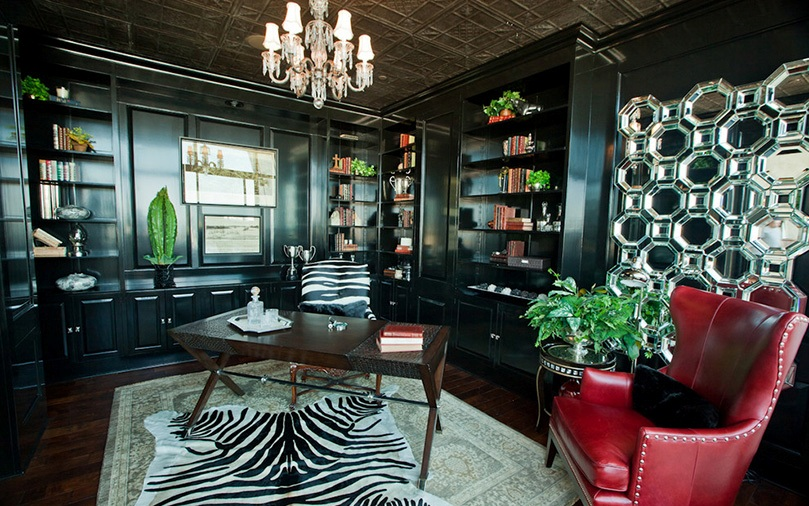 Elegant-Home-Office-design-ideas-for-Black-Lacquer-Cabinets-Decor-Ideas
