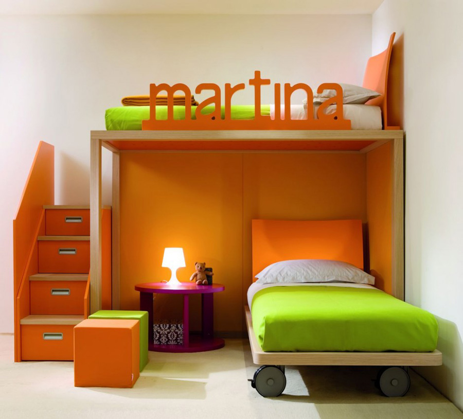 Kids orange Bedroom Furniture