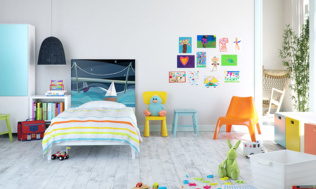 Modern and Spacious children's bedroom design