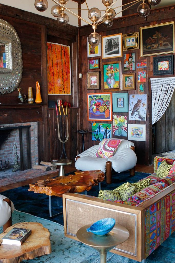 Rustic Eclectic Living Room