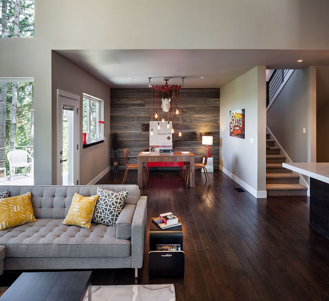 Rustic Modern Living Room Photo