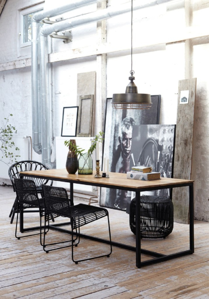 Superb-Industrial-Dining-Room