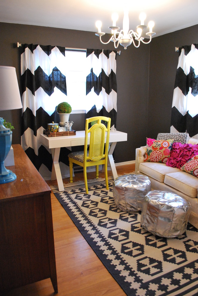 Wonderful-Gray-Chevron-Curtains-Decorating-Ideas