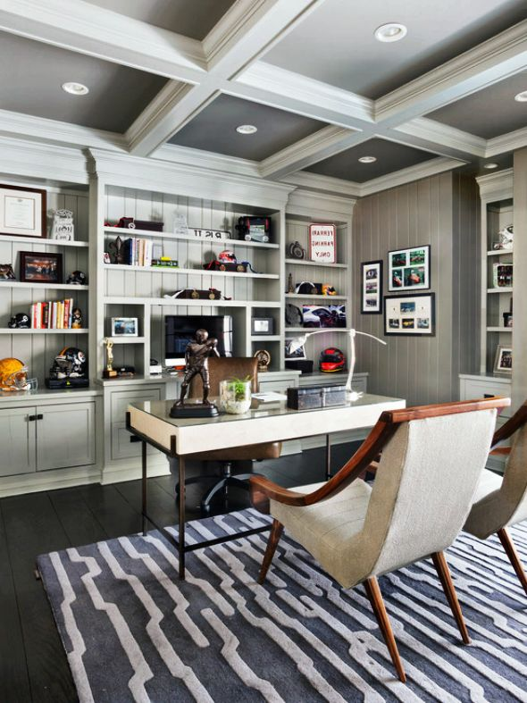 exciting contemporary home office design