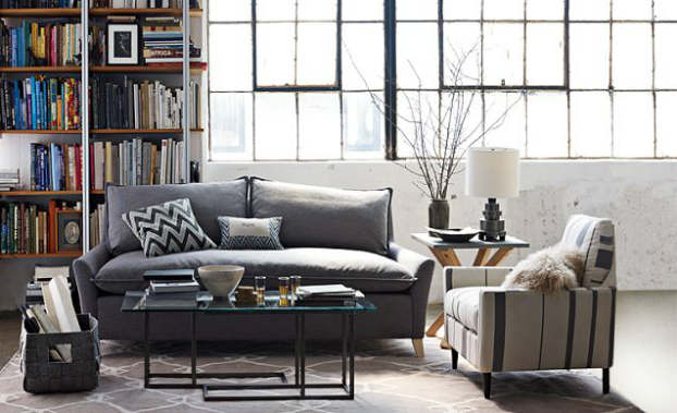 industrial graphite living room