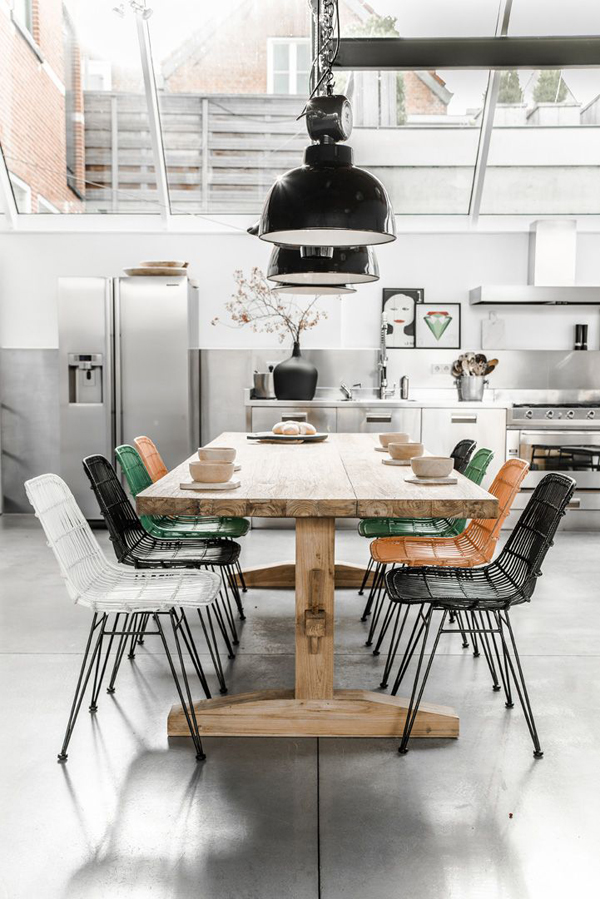 stylish-industrial-dining-room-decor