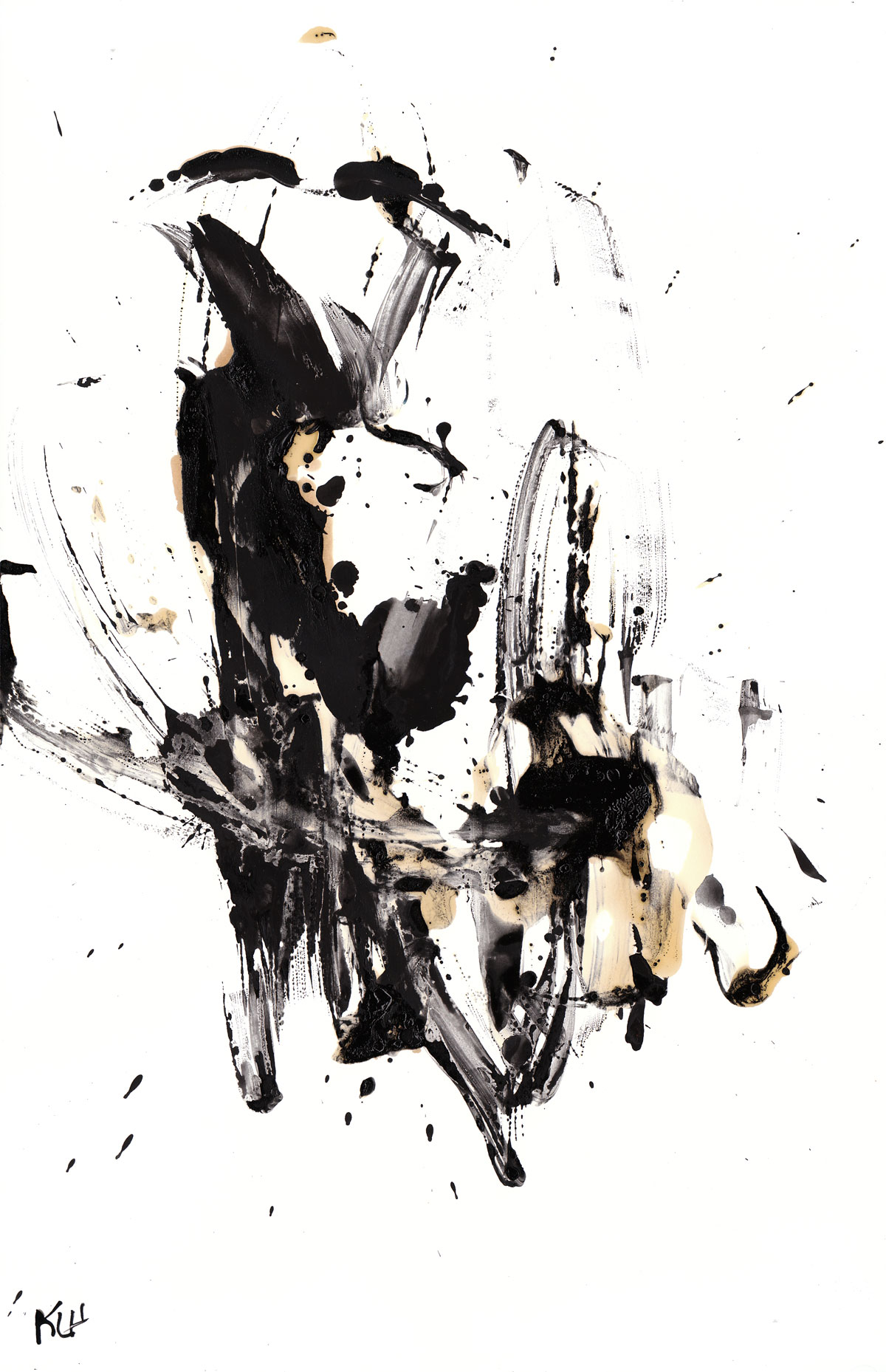 Black And White Modern Art Abstract