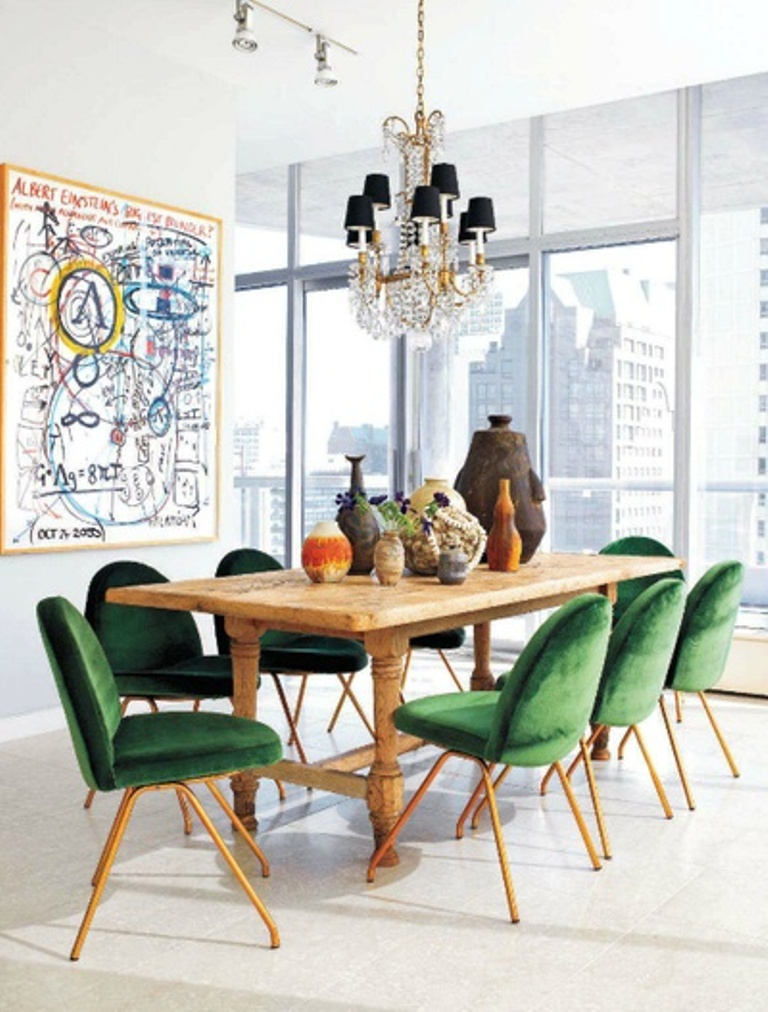 Bold Eclectic Dining Room