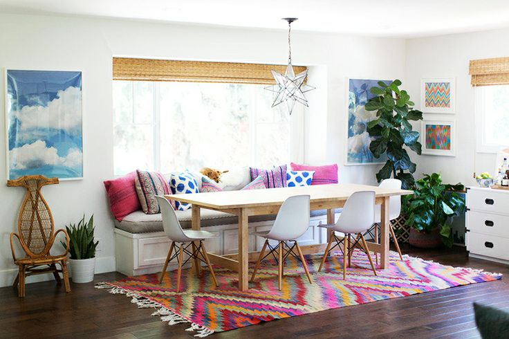 California eclectic dining room