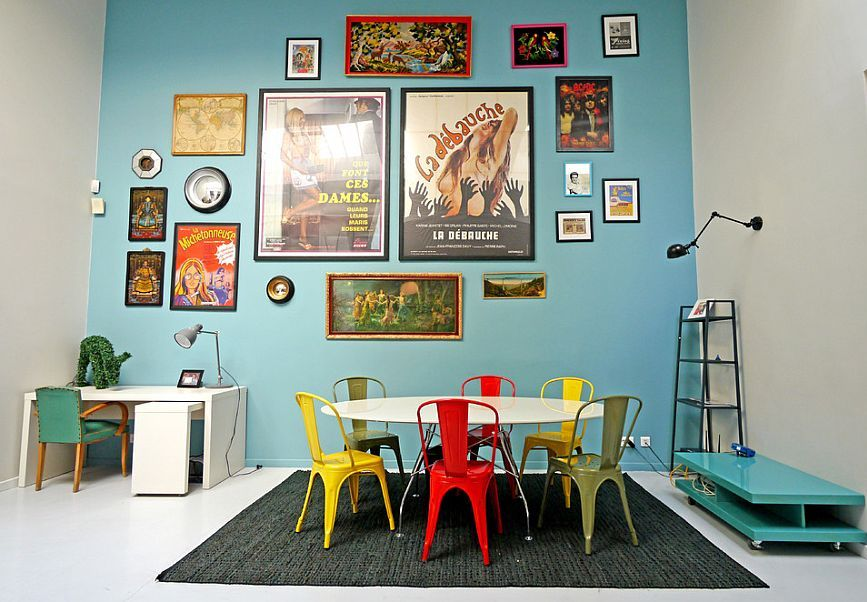 Chairs-in-diverse-colors-and-finishes-are-definitely-a-trendy-choice-in-the-eclectic-dining-room