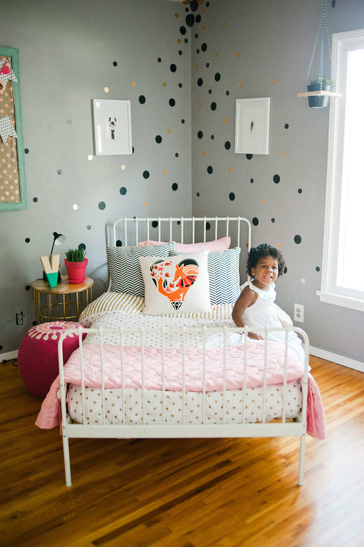 Chic soft grey kids room