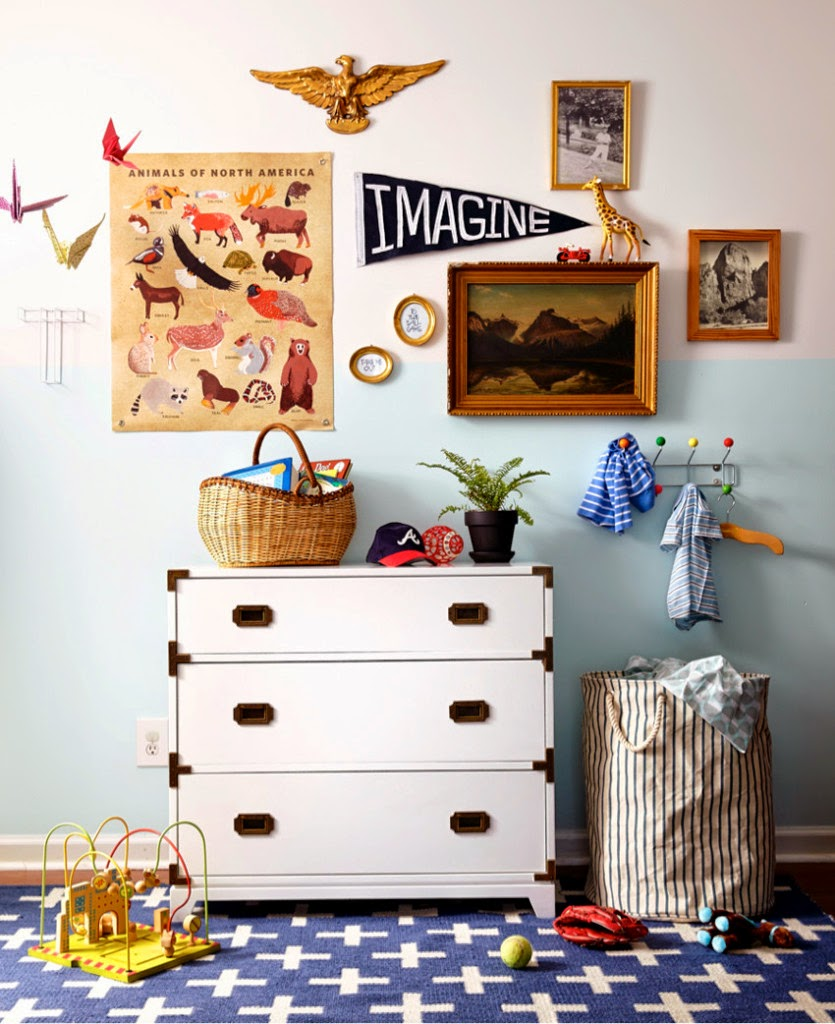 Eclectic kids room decor