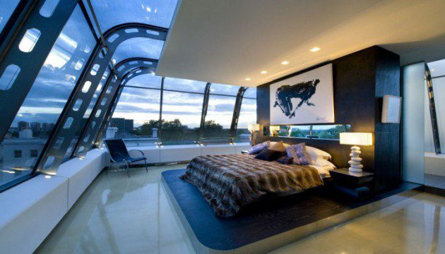 Fascinating Penthouse Bedroom Design Ideas