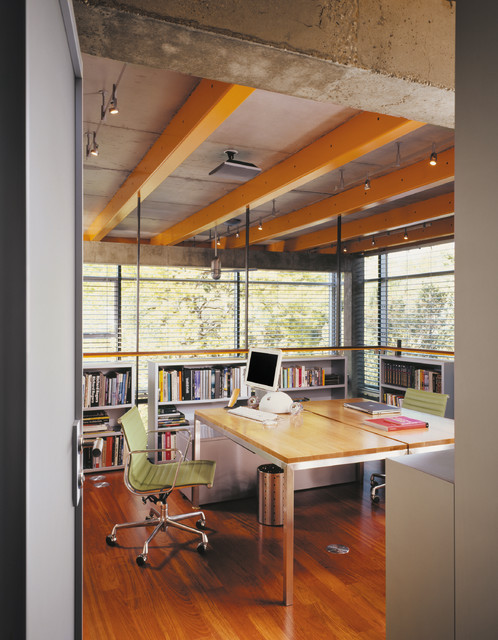 Glass House industrial-home-office