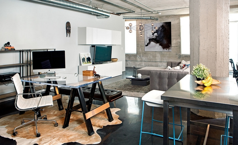 Industrial-home-office-that-seems-like-a-natural-extension-of-the-living-space