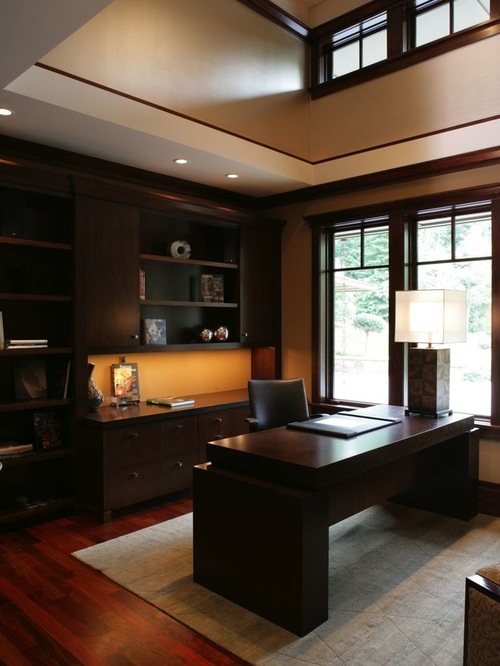 Luxury Asian Home Office Design