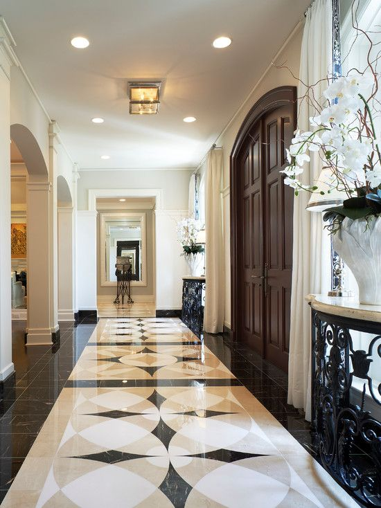 Marble Floor Design House-traditional-entry