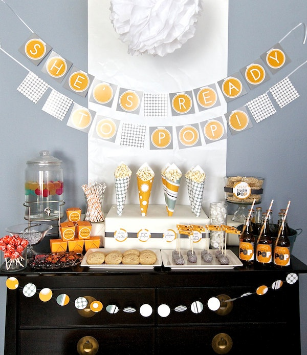 Modern Baby Shower Party Decorations