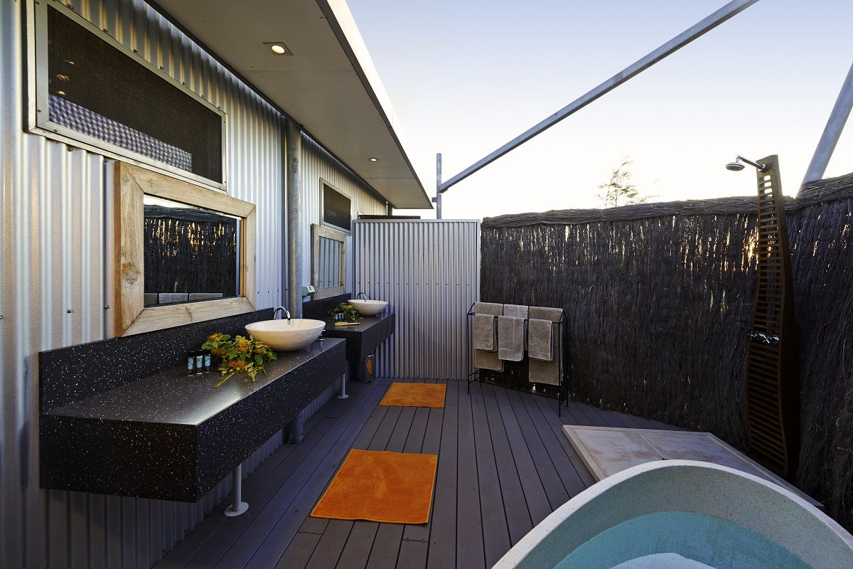 Open air Industrial Bathroom