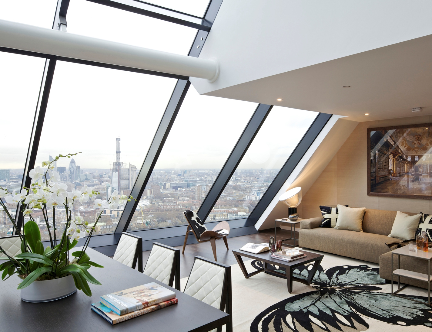 Penthouse Loft Living contemporary-living-room