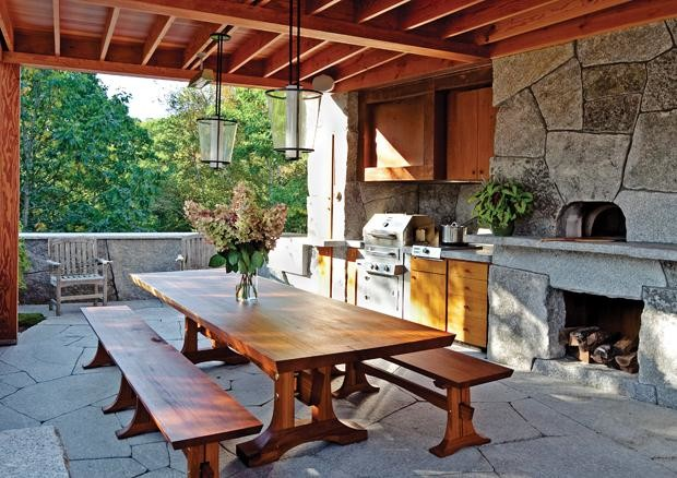 Rustic Outdoor Kitchen