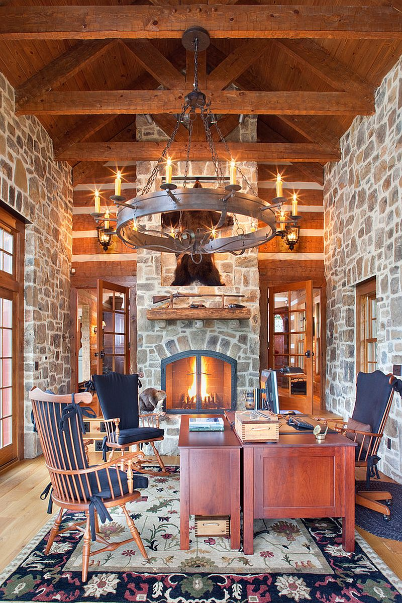 Traditional-home-office-of-country-retreat-is-all-about-stone