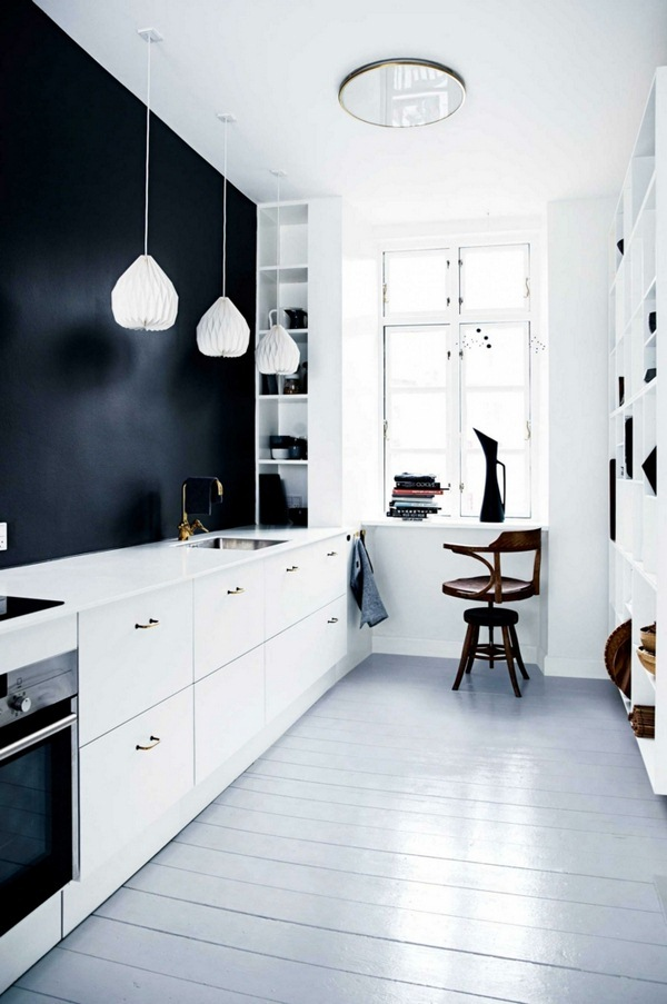 accent-wall-home-ideas-kitchen-black-light-device-small-kitchen
