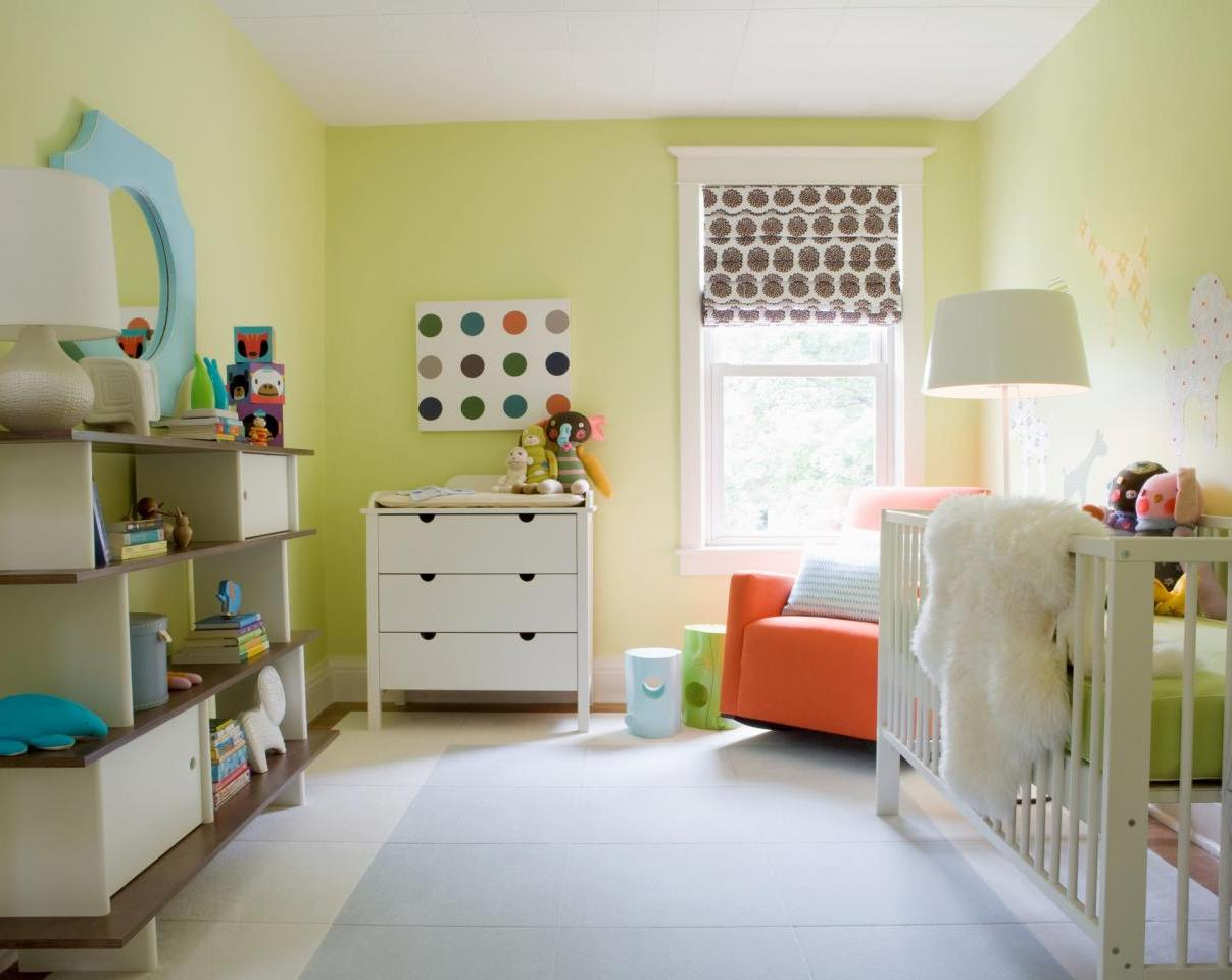 Contemporary Gold Kids Bedroom