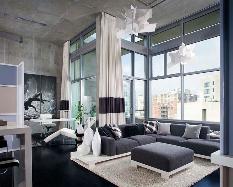 Contemporary Living Room With Modern Touch