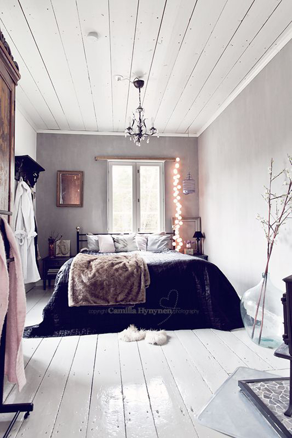 Cozy Winter Bedroom Interior