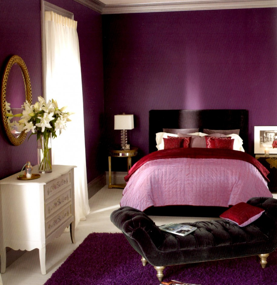 Small Bedroom With Lavender Color