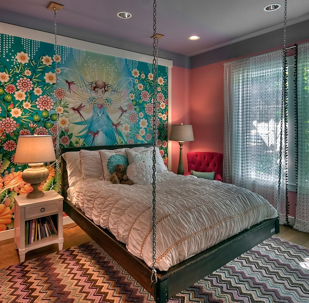transitional-kids-decor-with-colorful-rug-ideas-in-seattle