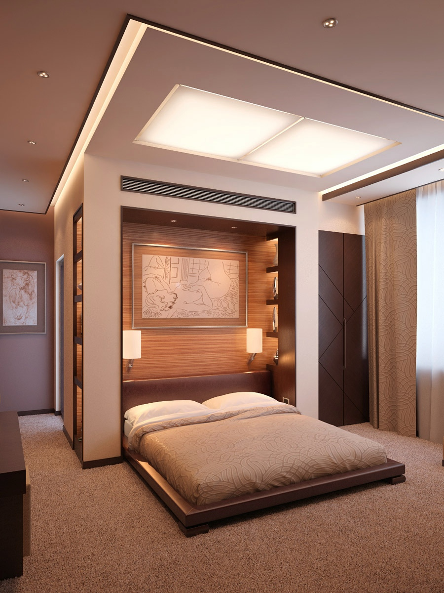 Neutral Bedroom With Wooden Headboard