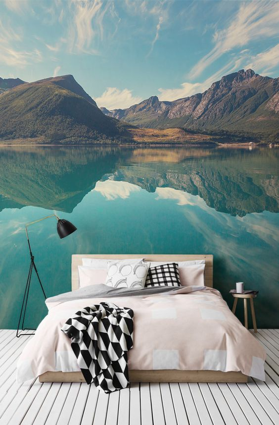 Norwegian Fjord Mural Wallpaper