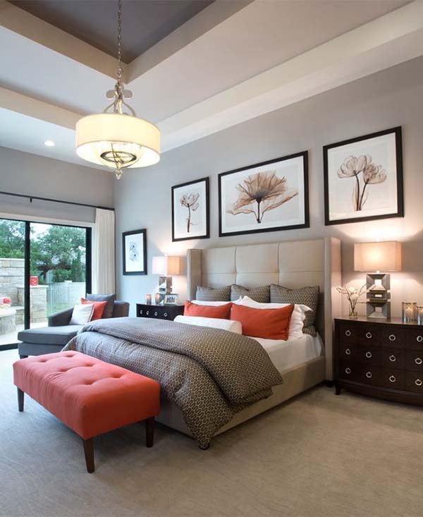 Sophisticated Pastel Colored Bedroom