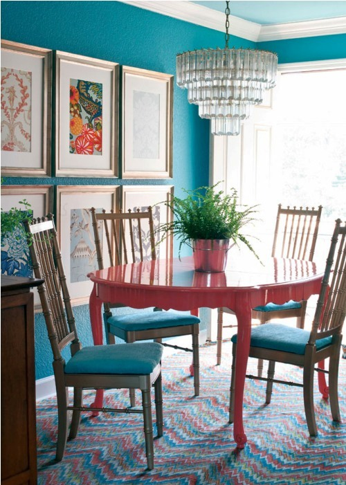 Stunning Colorful Dining Room (3)
