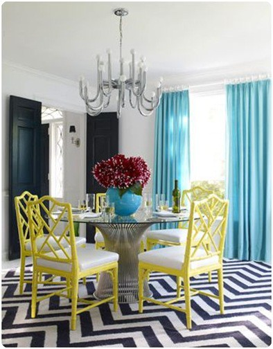 Stunning Colorful Dining Room (9)