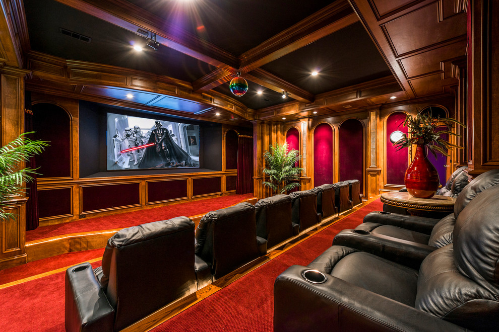 Amazing Traditional Home Theater