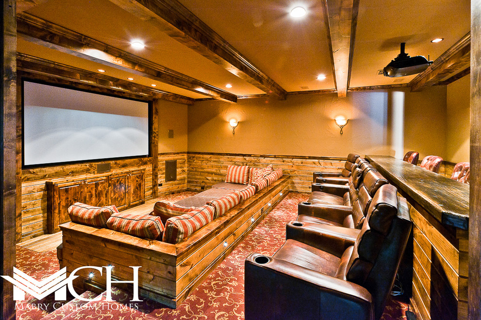 Craftsman Style Home Theater