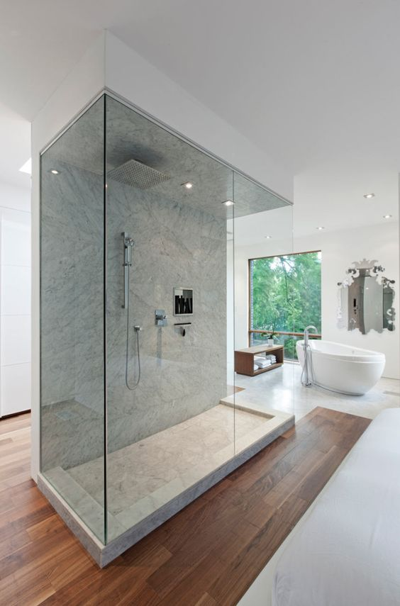 Ultra Modern Bathroom With Glass Shower
