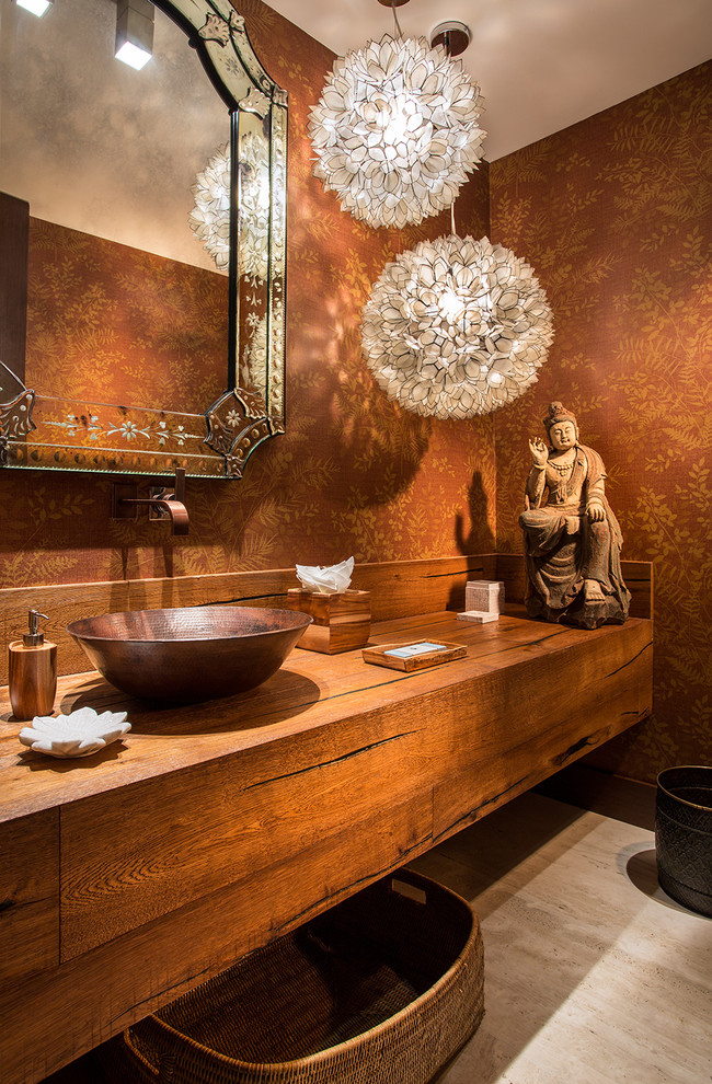 Asian Powder Room Design