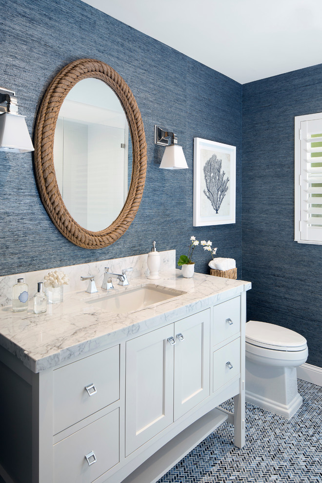 Beach Style Powder Room Design