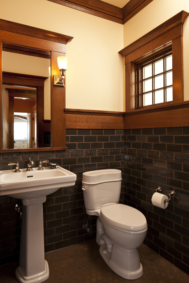 Craftsman Powder Room Design