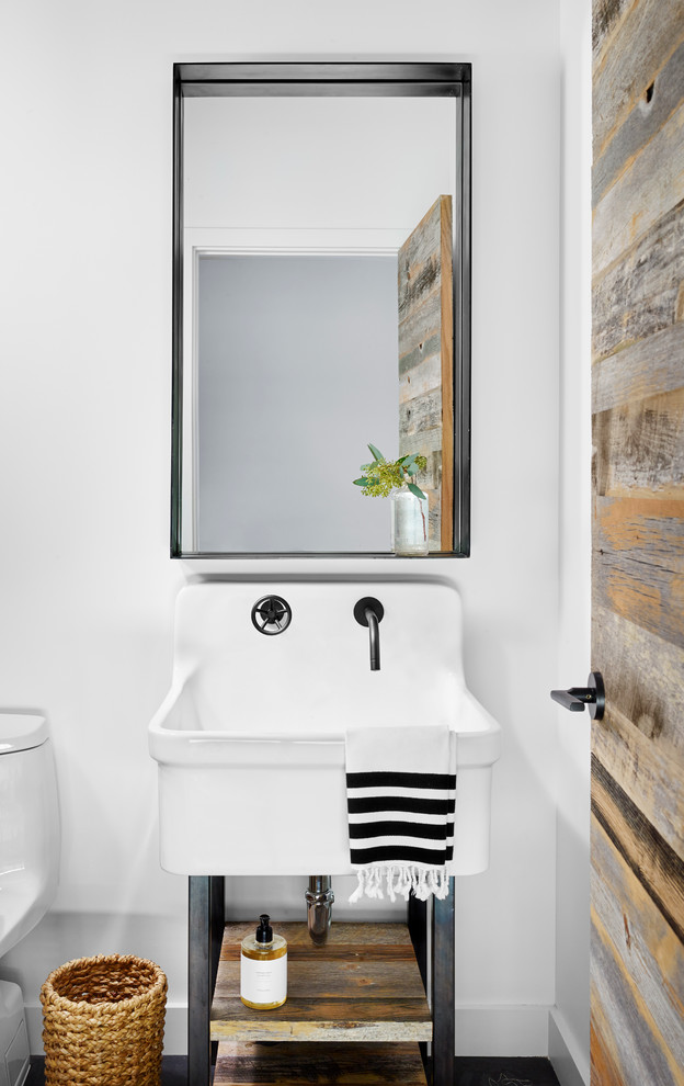 Industrial Powder Room Design